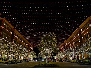 Frisco Square Christmas light display