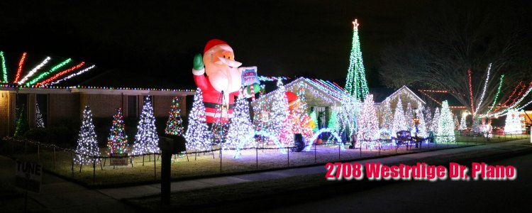 Westridge Christmas light show, Plano TX - 2018 Christmas And Holiday Light Displays In Collin County - Allen