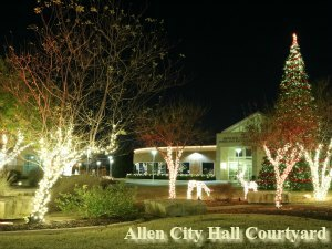 Allen Civic Plaza Christmas Lights