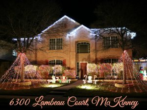 Lambeau Court Christmas lights, McKinney TX