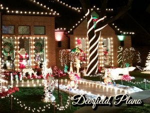 Deerfield Christmas lights, Plano TX