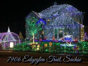 7906 Edgeglen Trail, Sachse Christmas Lights