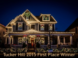 Tucker Hill Christmas lights first place winner 2015, McKinney TX
