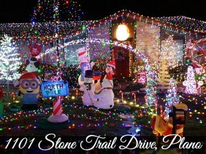 stone trail drive plano clark griswolds christmas lights - Disney Princess Outdoor Christmas Decorations