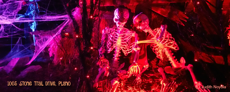 Halloween light show, 1005 Stone Trail Dr Plano TX