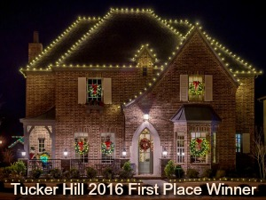 Tucker Hill Christmas lights first place winner 2016, McKinney TX