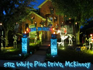 Halloween Light Show 5912 White Pine Dr, McKinney TX