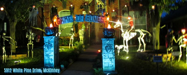 Halloween light show, 5912 White Pine Dr McKinney TX