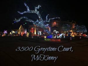Greystone Court McKinney Christmas Lights