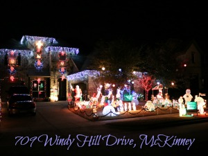 709 Windy Hill Drive Christmas lights, McKinney TX