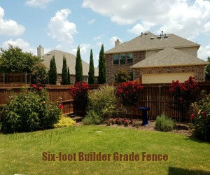 builder grade fence in Texas