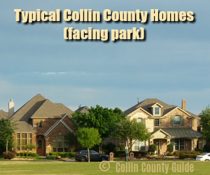 typical home in Collin County, TX
