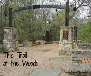 shaded trail near Frisco and Plano, The Trail at the Woods Allen TX