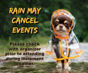 Rain may cancel events
