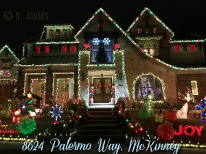 8624 Palermo Way Christmas lights, McKinney TX