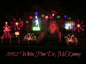 White Pine Drive Christmas lights, McKinney TX
