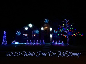 6020 White Pine Drive Christmas lights, McKinney TX