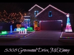 5308 Grovewood Drive Christmas lights, McKinney TX