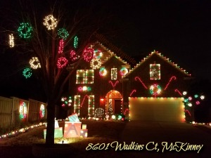 8601 Wadkins Court Christmas lights, McKinney TX