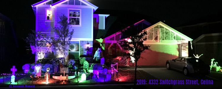 Halloween light show, 4332 Switchgrass Street, Celina TX